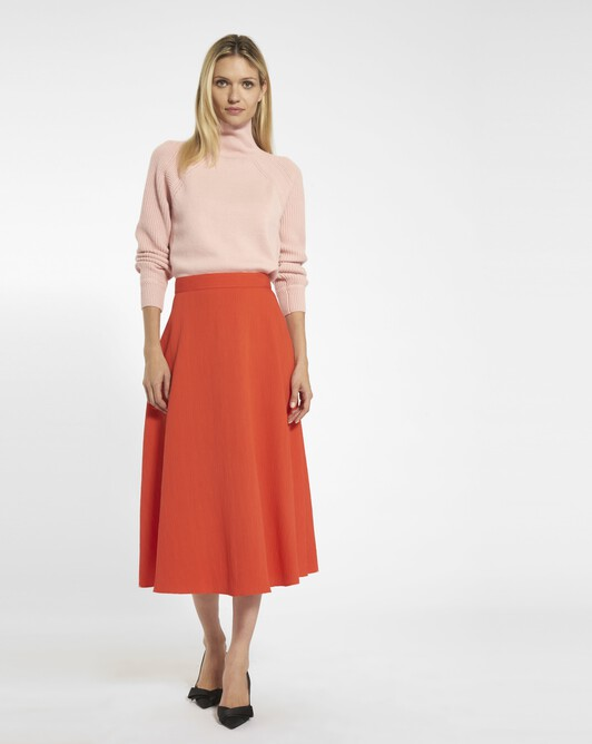 Viscose crepon skirt - Pasteque