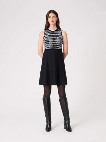 Jacquard dress - Noir / souris