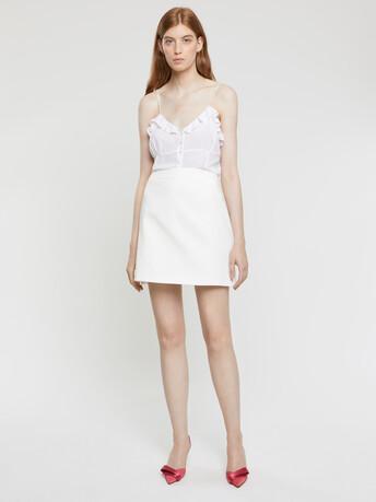 Jupe en coton couture - Blanc