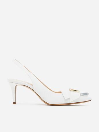 Sandales en ottoman - Blanc casse
