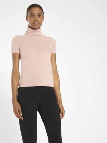 Pull en laine cachemire - Rose pale