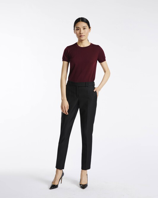 Wool drill trousers - Noir