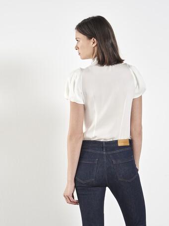 Stretch charmeuse shirt - Off white