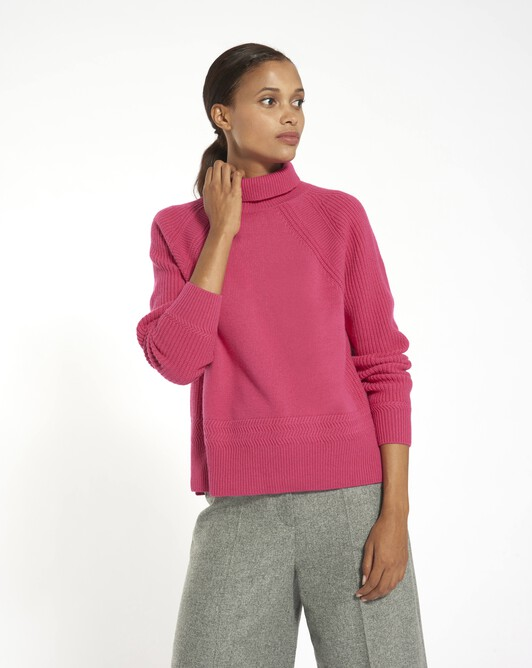 Pull en laine cachemire - Fuchsia