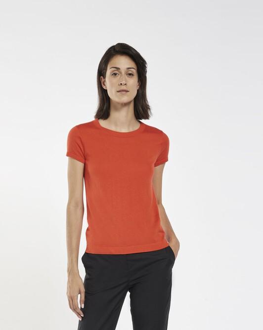 Cashmere silk sweater - pasteque