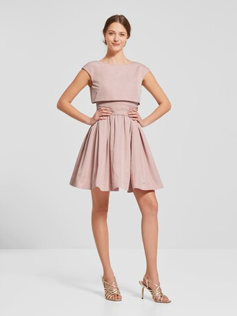Robe en faille - Rose pale
