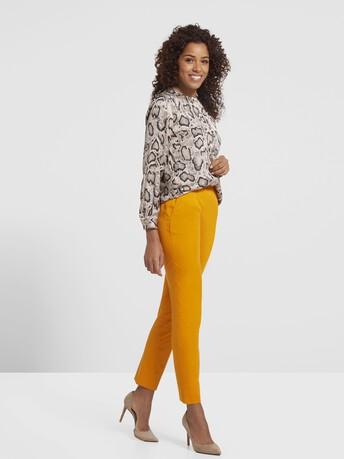 Pantalon en gabardine de coton - Safran