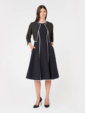 Two-tone cotton jacket - Noir / sable