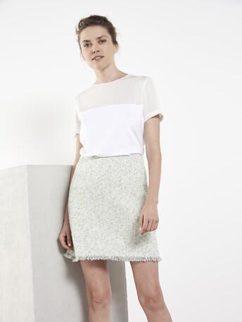 Haut en jersey de coton stretch - Blanc