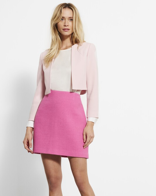 Veste en crêpe envers satin - Rose pale