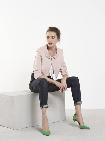 Veste en faille - Rose pale