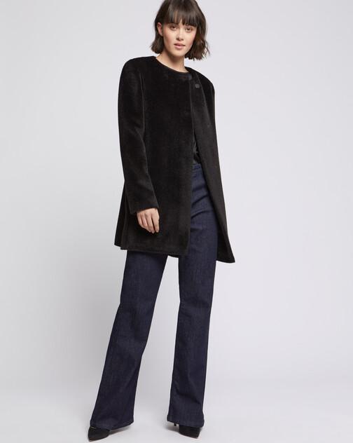 Mid-length alpaca coat
