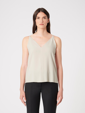 Satin-back crepe top - Coquille