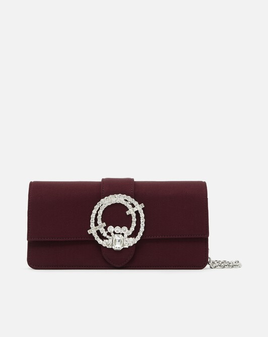 Satin-back crepe clutch - bourgogne
