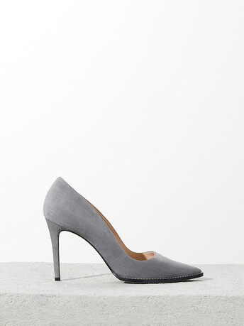 Suede pumps - Gris
