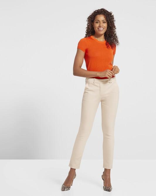 Pull en soie et Coton - Orange