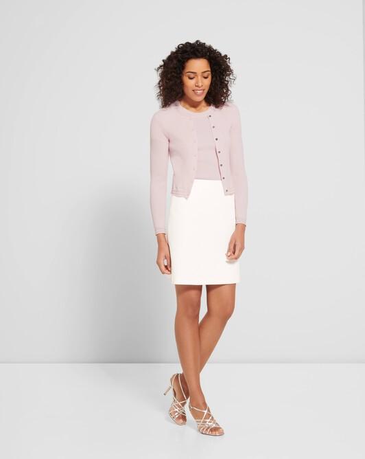 Cotton cardigan - Magnolia / blanc casse