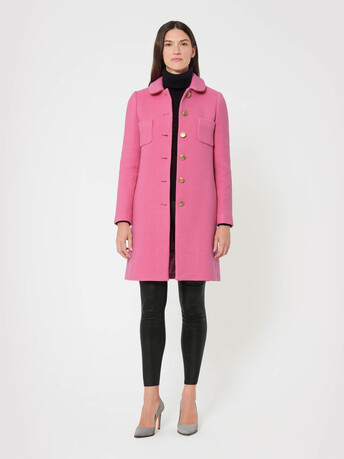 Stretch serge coat - Pivoine