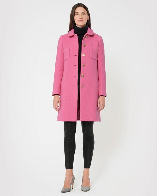 Manteau en sergé de laine stretch