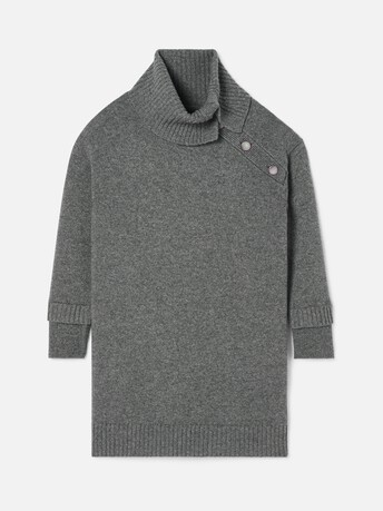 Robe en laine cachemire - Anthracite