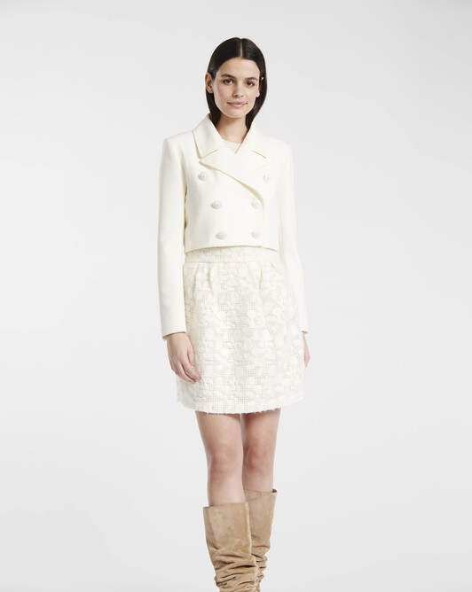 Tricotine wool jacket - Naturel