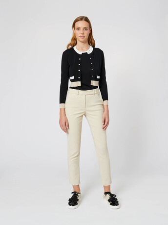 Silk and cotton cardigan - Noir
