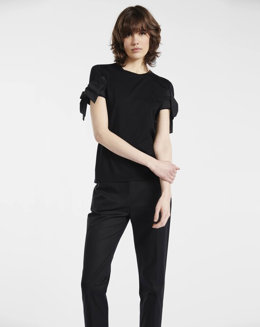 Stretch-cotton jersey t-shirt - Noir