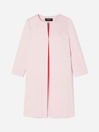 Stretch-ottoman coat - Magnolia
