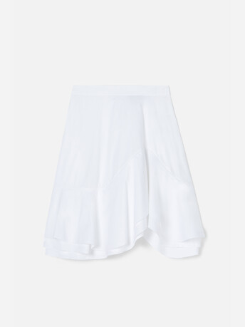 Jupe en popeline de coton stretch - Blanc
