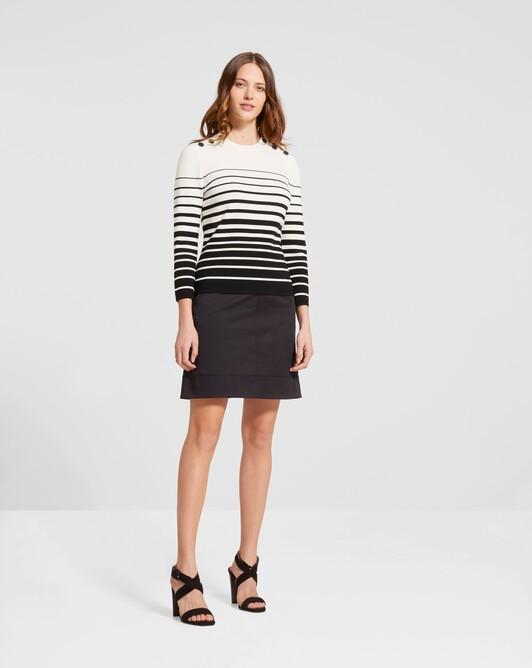 Pull marin - Blanc casse / noir