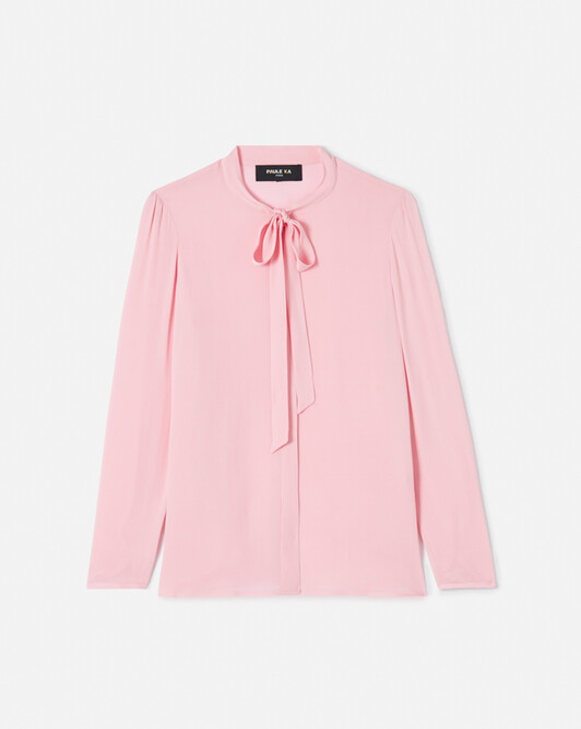 Chemise en charmeuse stretch - Candy pink