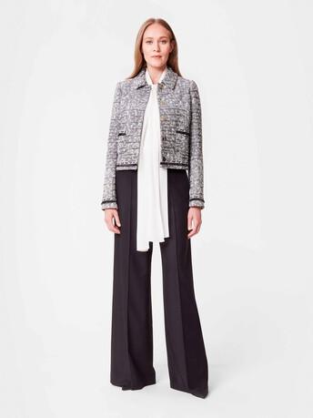 Swing tweed jacket - Noir / blanc