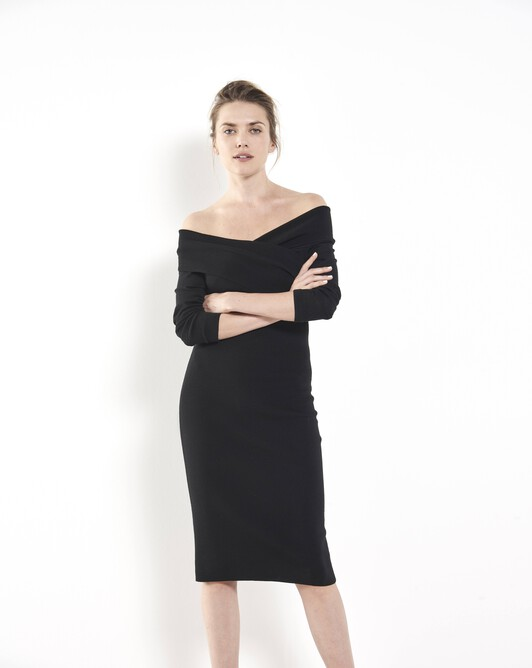 Merino dress - Noir
