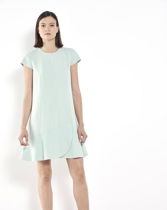 Satin-backed crepe dress - amande