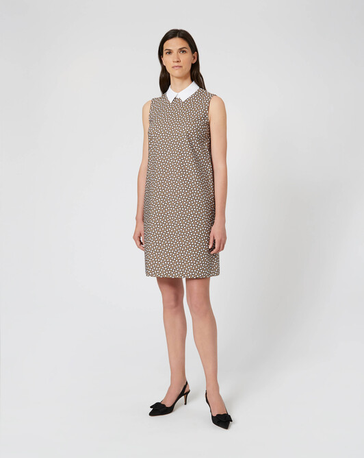 WOVEN DRESS - Taupe