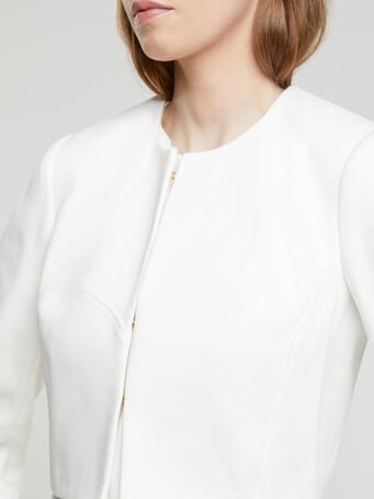 Veste en coton couture - Blanc