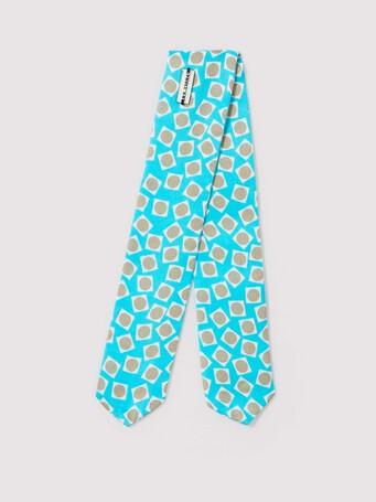 Fluid satin scarf bracelet - Ocean