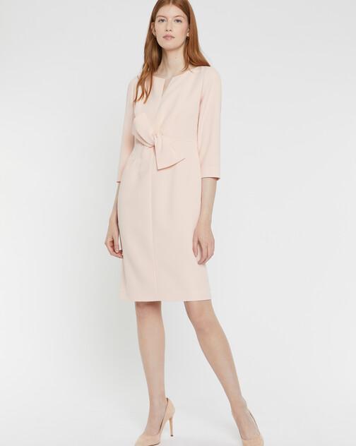 Satin-back crepe dress