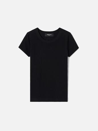 Pull en soie cachemire - Noir