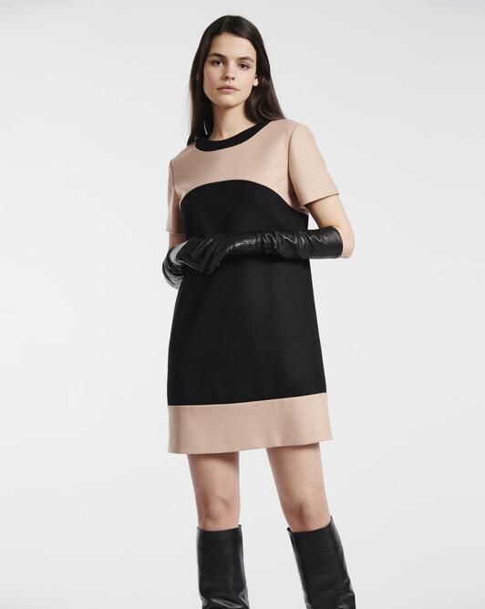 Robe en drap de laine - Noir