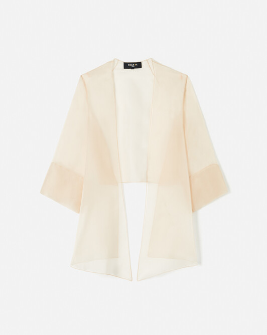 WOVEN SUIT JACKET - Nude