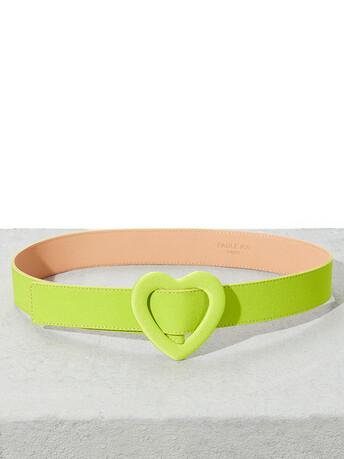 Satin-back crepe belt - Kiwi