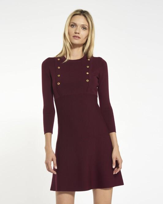 Merino wool dress - Bourgogne