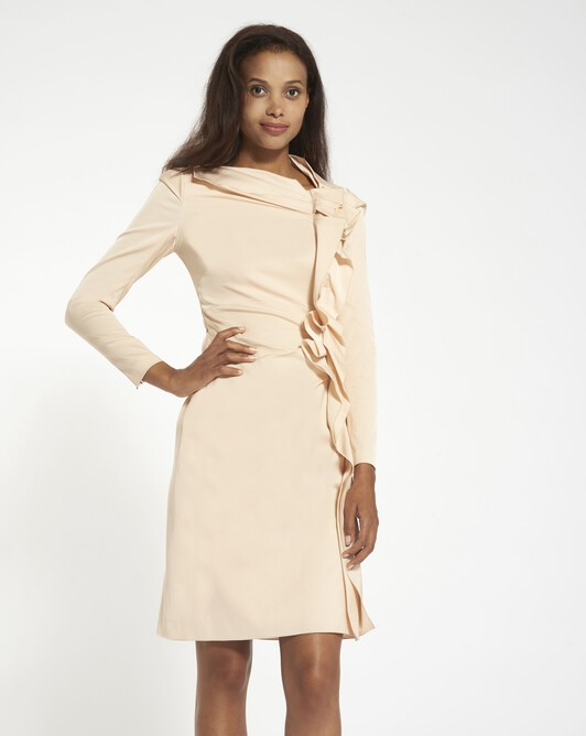 Stretch ottoman dress - pale pink