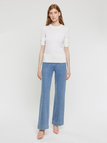 Merino-wool top - Off white