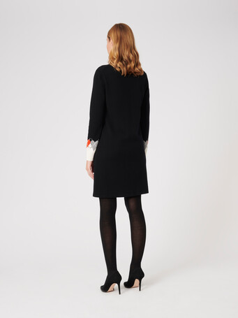 Wool and cashmere cardigan - Noir / cornaline