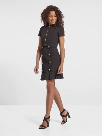 Veste en ottoman de coton stretch - Noir