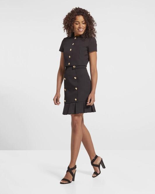 Stretch-cotton ottoman jacket - Noir