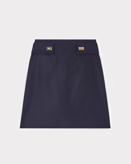 WOVEN SKIRT - Navy blue