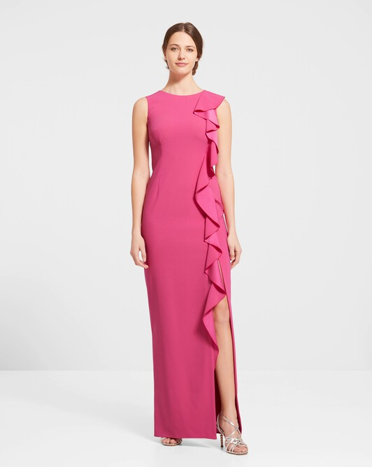 Robe en crêpe envers satin - Pink